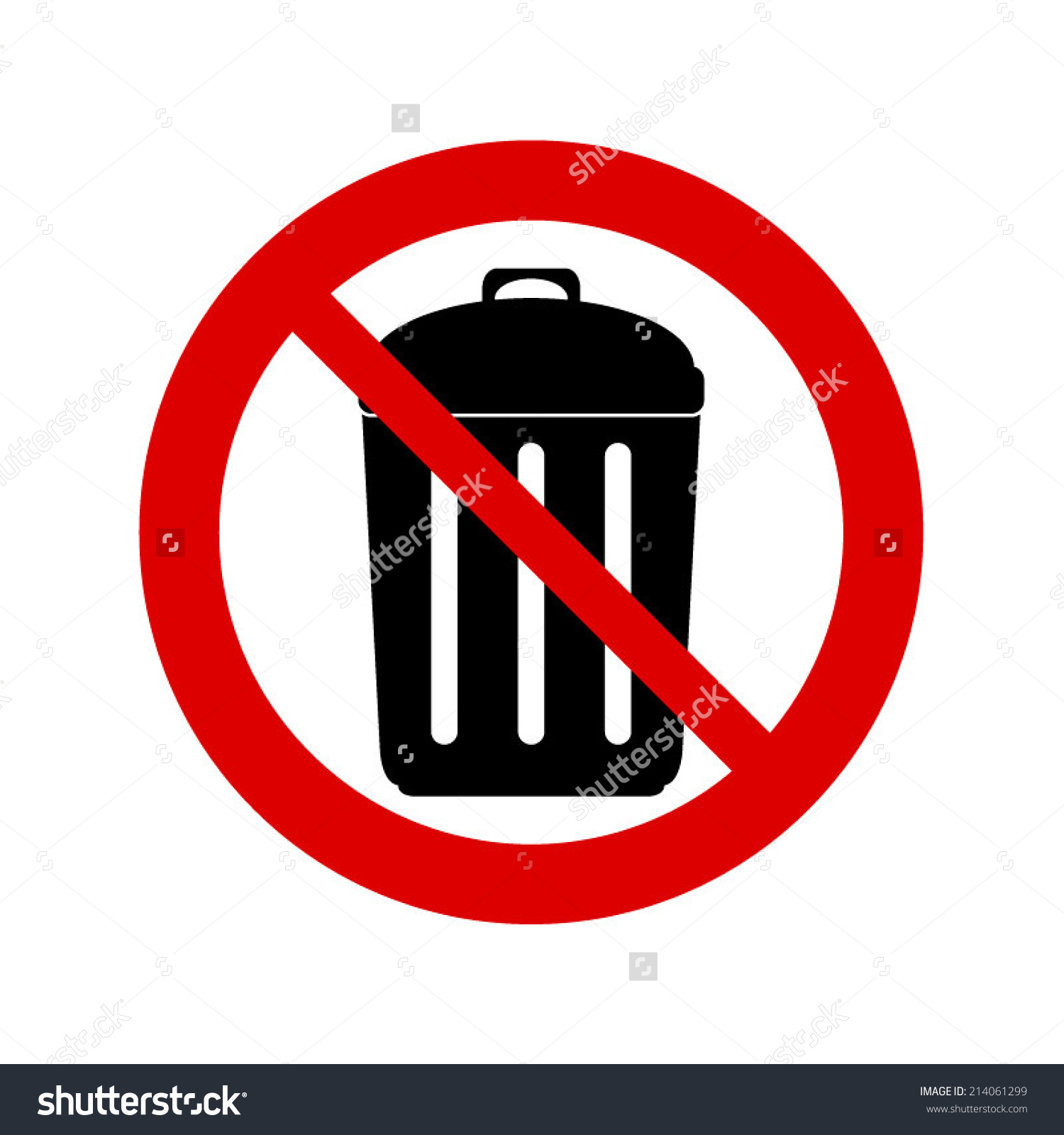 Don't throw garbage clipart.