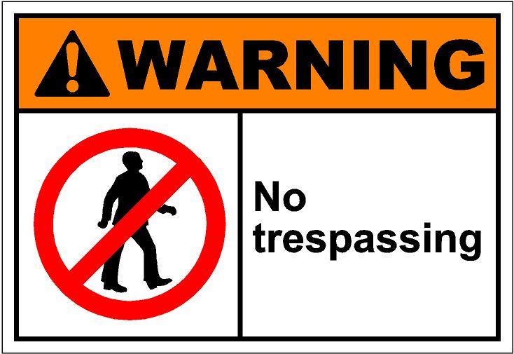 Clipart no trespassing.