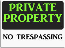 No Trespassing Sign Stock Illustrations.