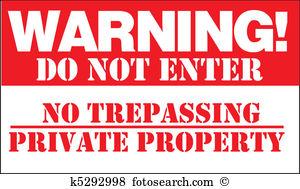 No trespassing Clipart and Illustration. 416 no trespassing clip.