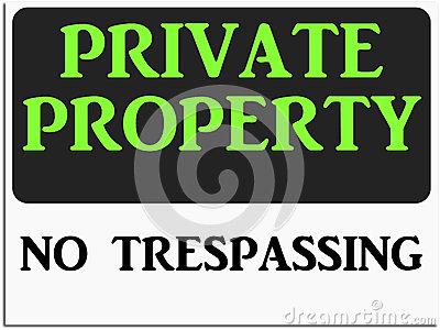 Danger No Trespassing Stock Illustrations.