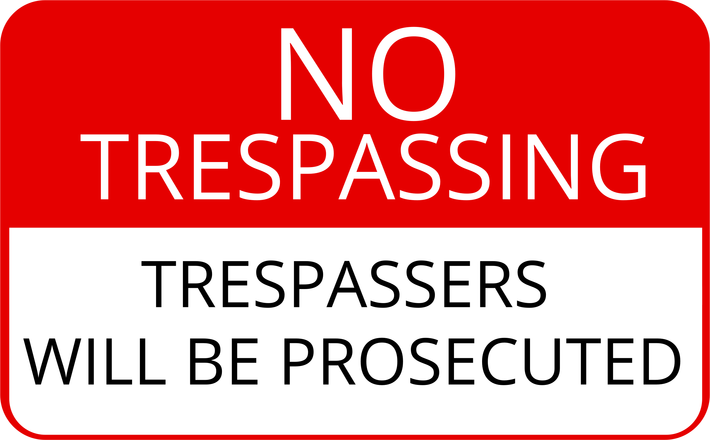 It's just a picture of Gratifying Printable No Trespassing Signs