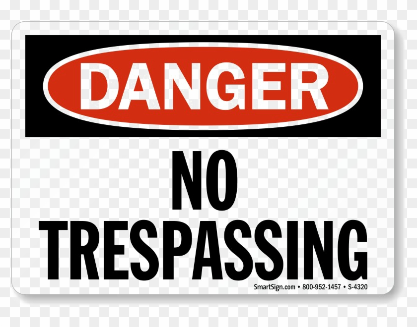 No Trespassing Sign Png Photo.