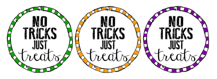 No Tricks Just Treats Free LABELS.