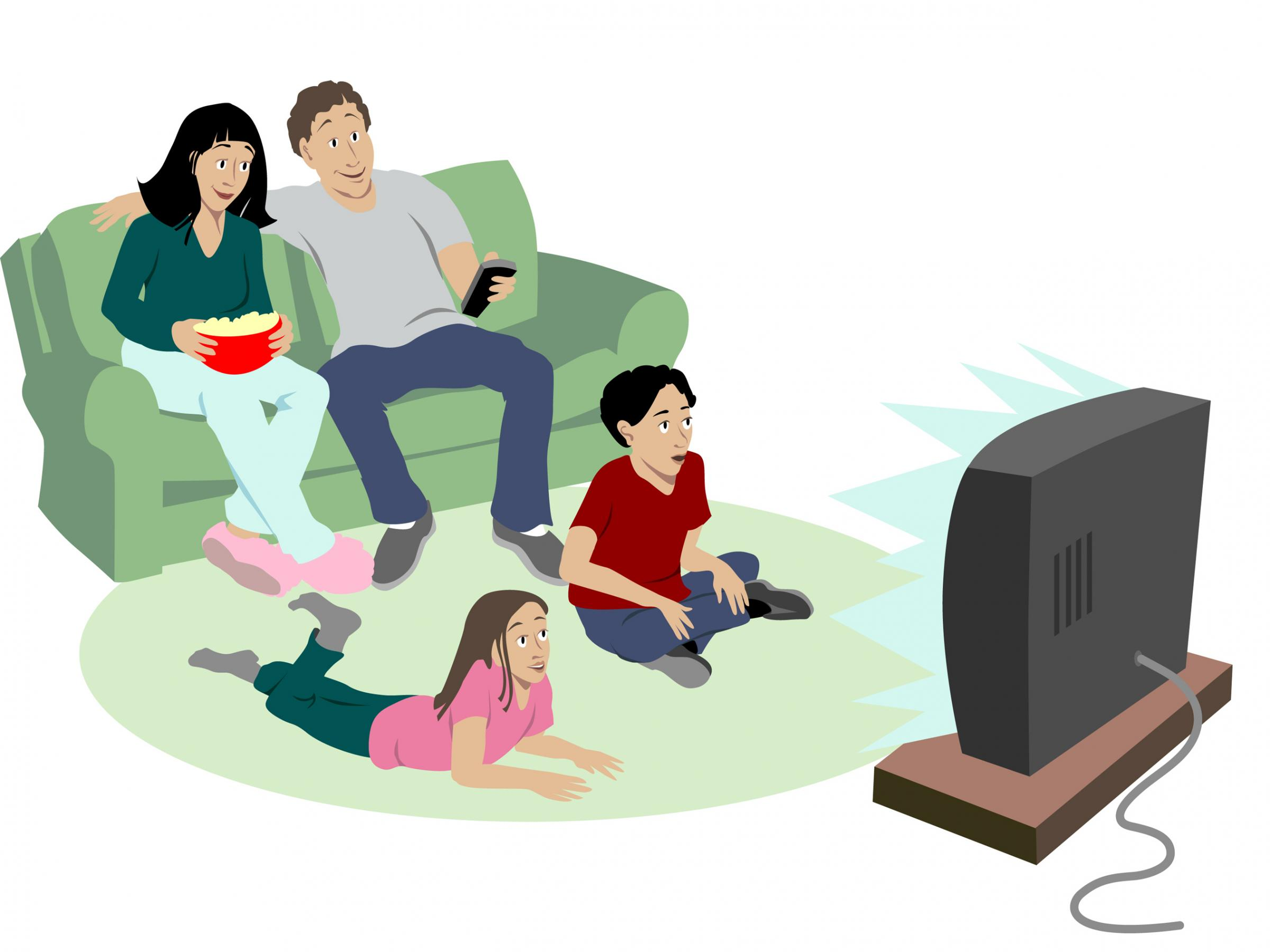 No Tv Clipart For Children.