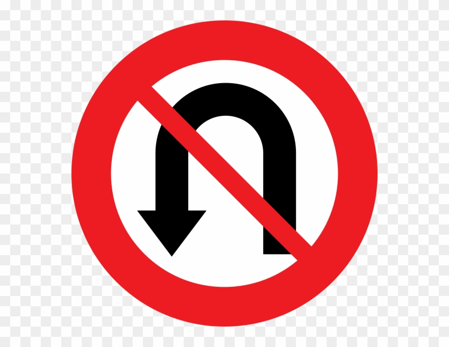 No U Turn Clipart (#2285388).