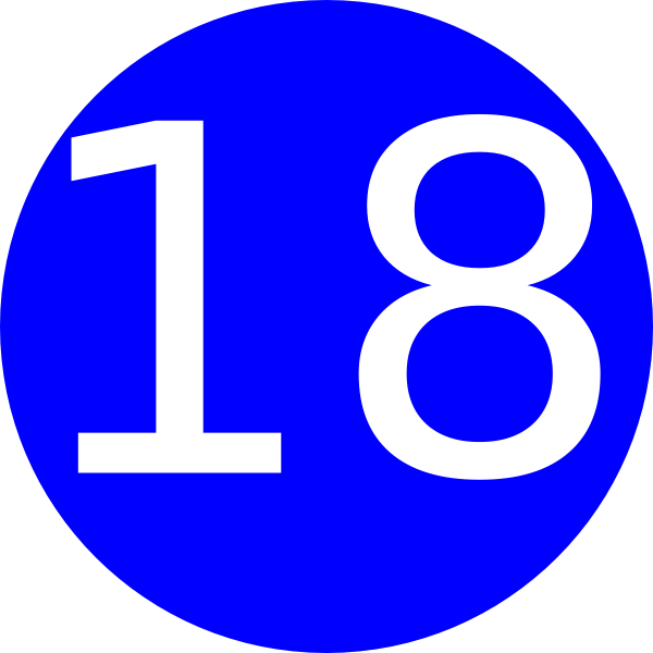 Number 18 Blue Background Clip Art at Clker.com.