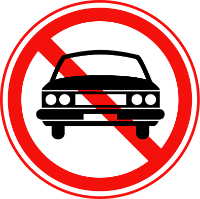 File:Korean Traffic sign (No Thoroughfare for Vehicles).svg.
