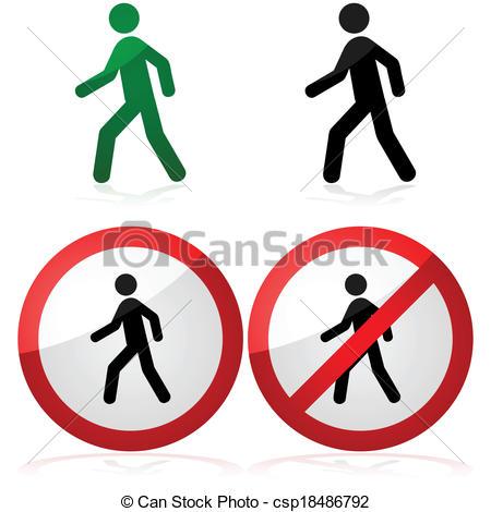 No walking Clip Art Vector Graphics. 713 No walking EPS clipart.