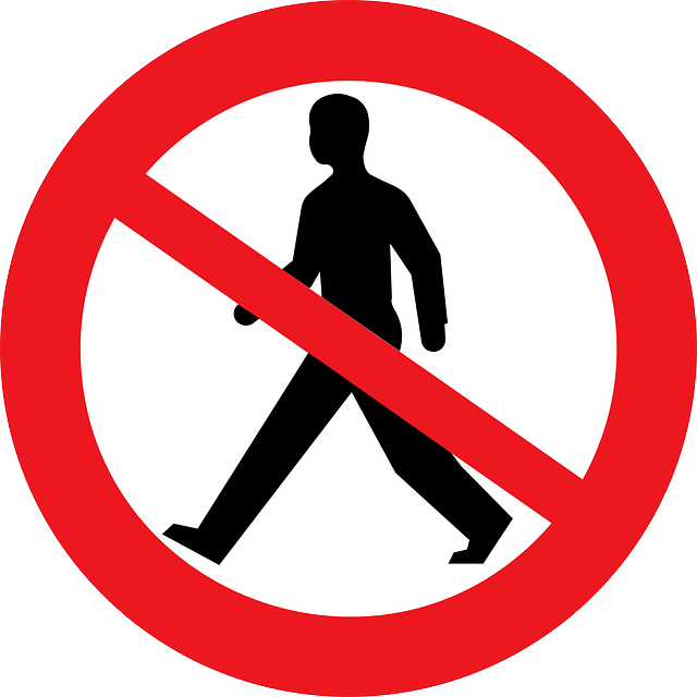 Free vector graphic: No Pedestrians, Sign, No Walking.