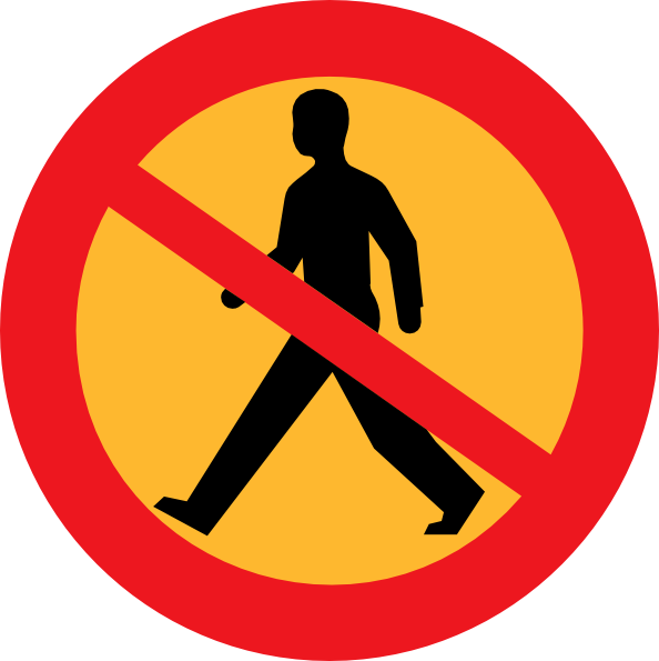 No Walking Symbol.