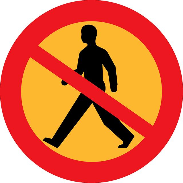 Free vector graphic: No Walkway, No Walking.