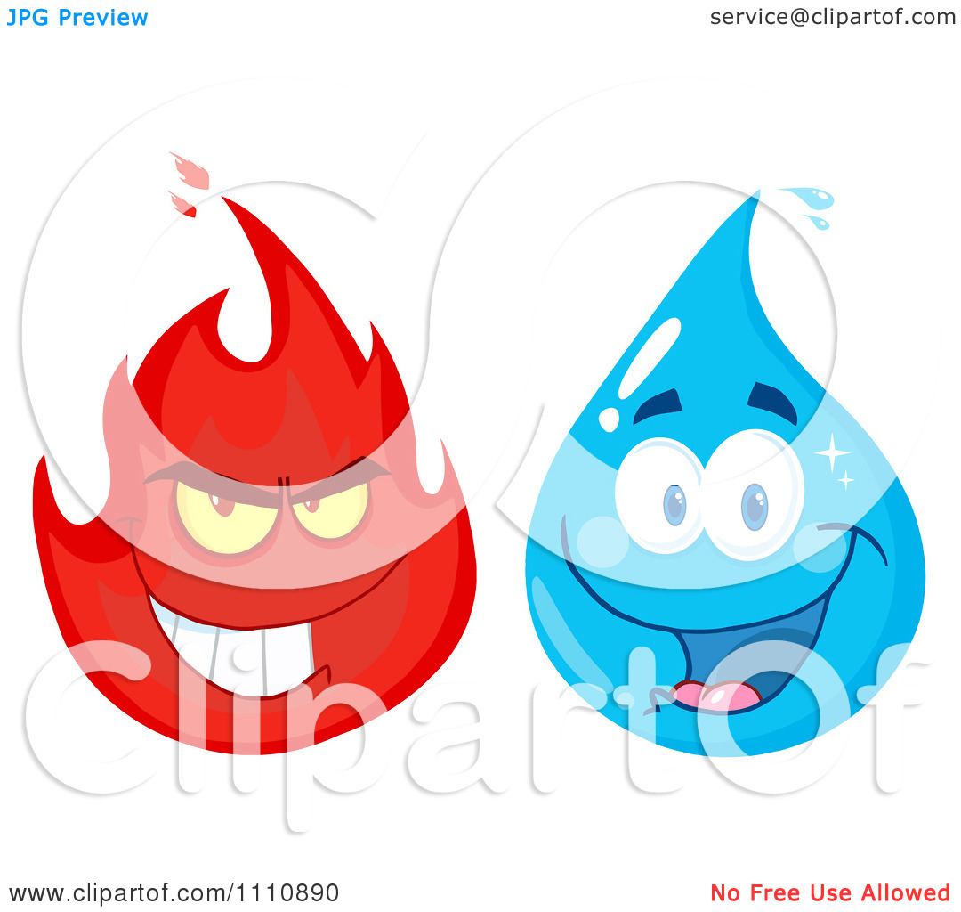 Fire Water Clipart.