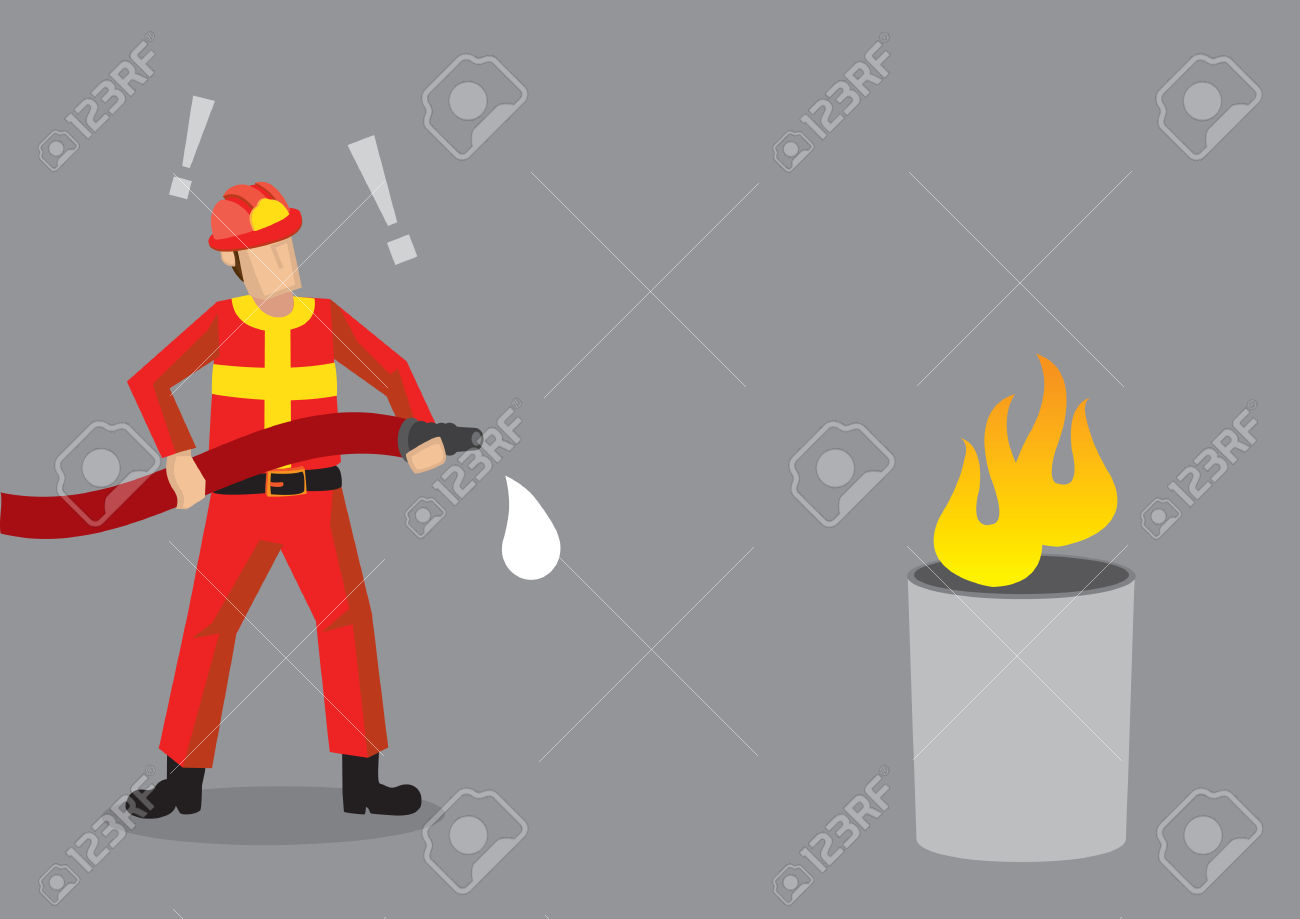 Fireman clipart no fire hose.