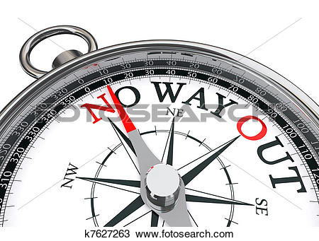 Drawing of no way out concept compass k7627263.