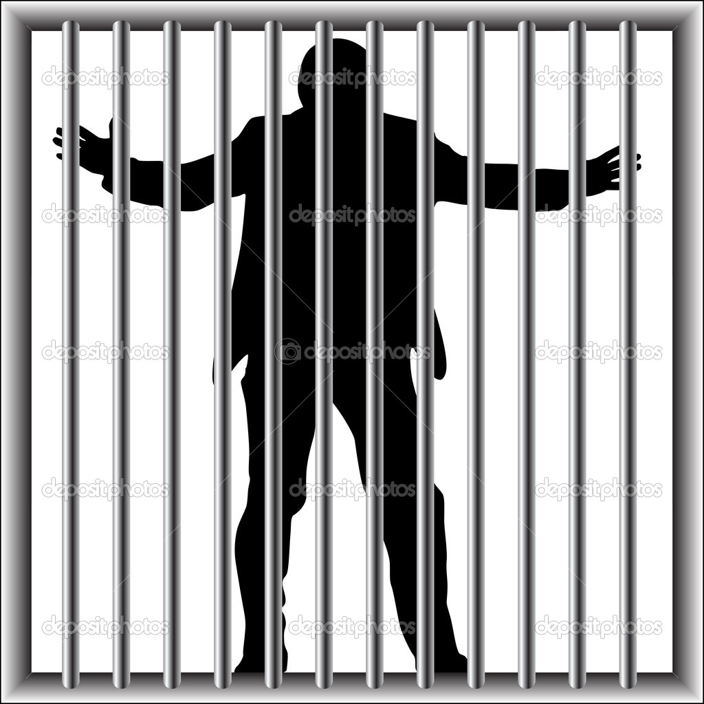 Man in prison with no way out — Stock Vector © milagli #11787242.