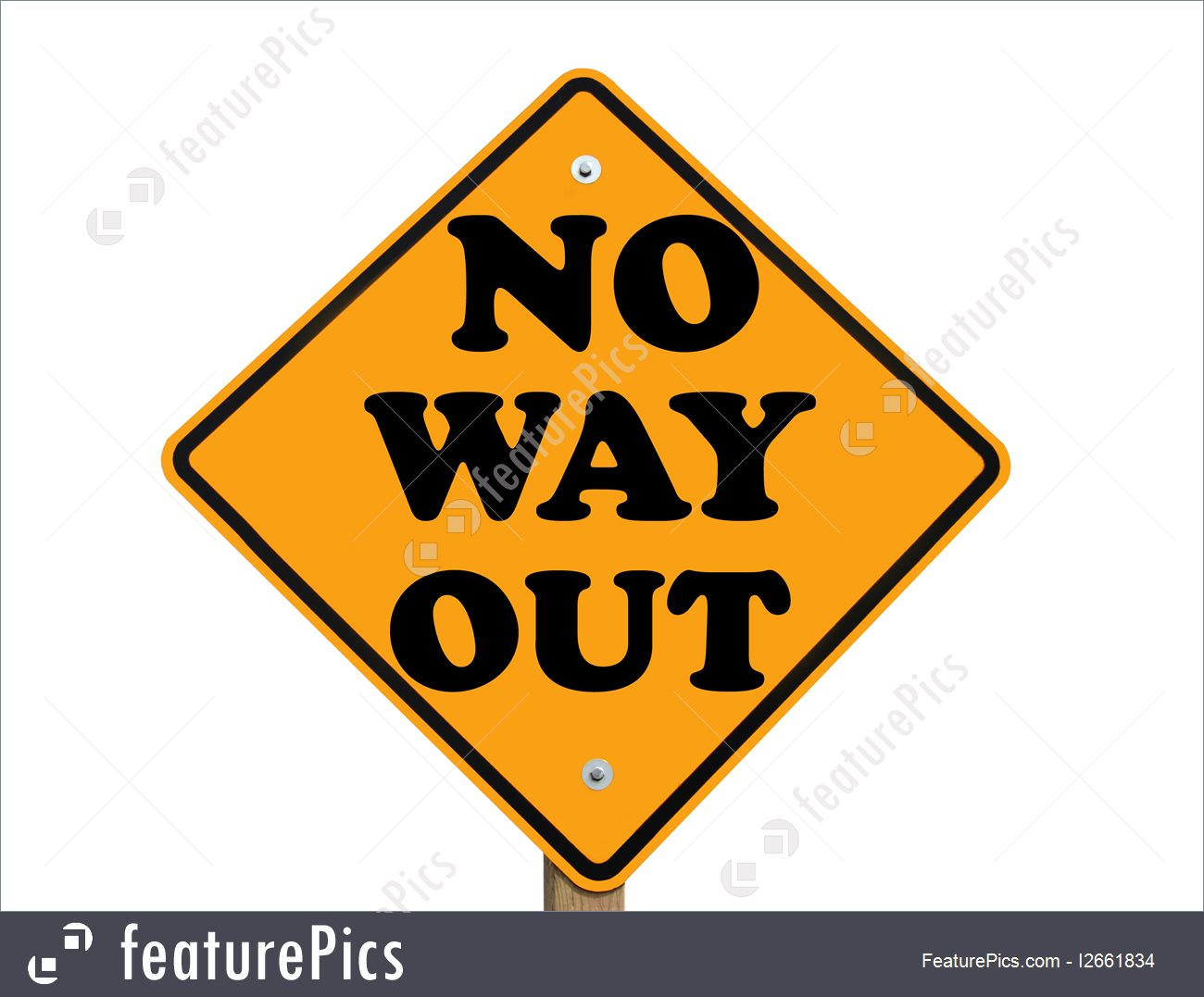 No Way Out Sign Image.
