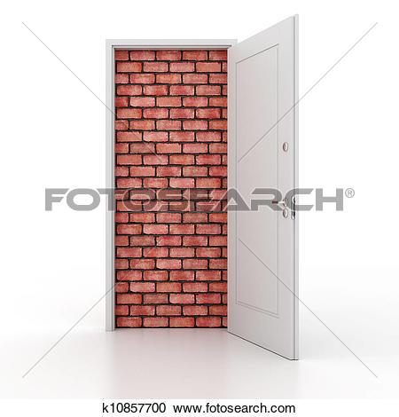 Stock Illustrations of 3d door no way out k10857700.