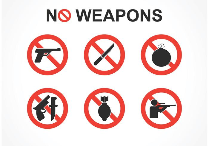Free No Weapons Vector Signs.