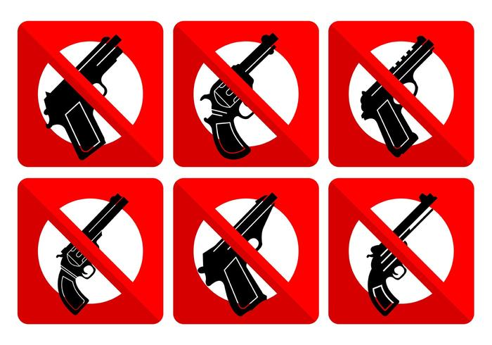 No Weapons Signs.