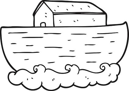 Black and White Cartoon Noah\'s Ark stock vectors and.
