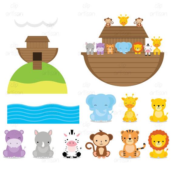 Noah\'s Ark Animal Clipart.