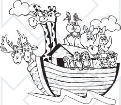 Similiar Noah S Ark Clip Art Black And White Keywords.