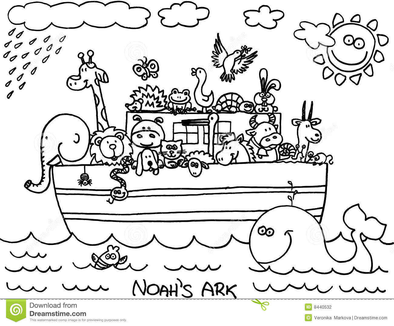 Noahs Ark Clipart Black And White.