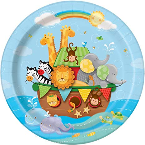 Buy Noah\'s Ark Baby Shower Dinner Plates, 8ct Online at Low.