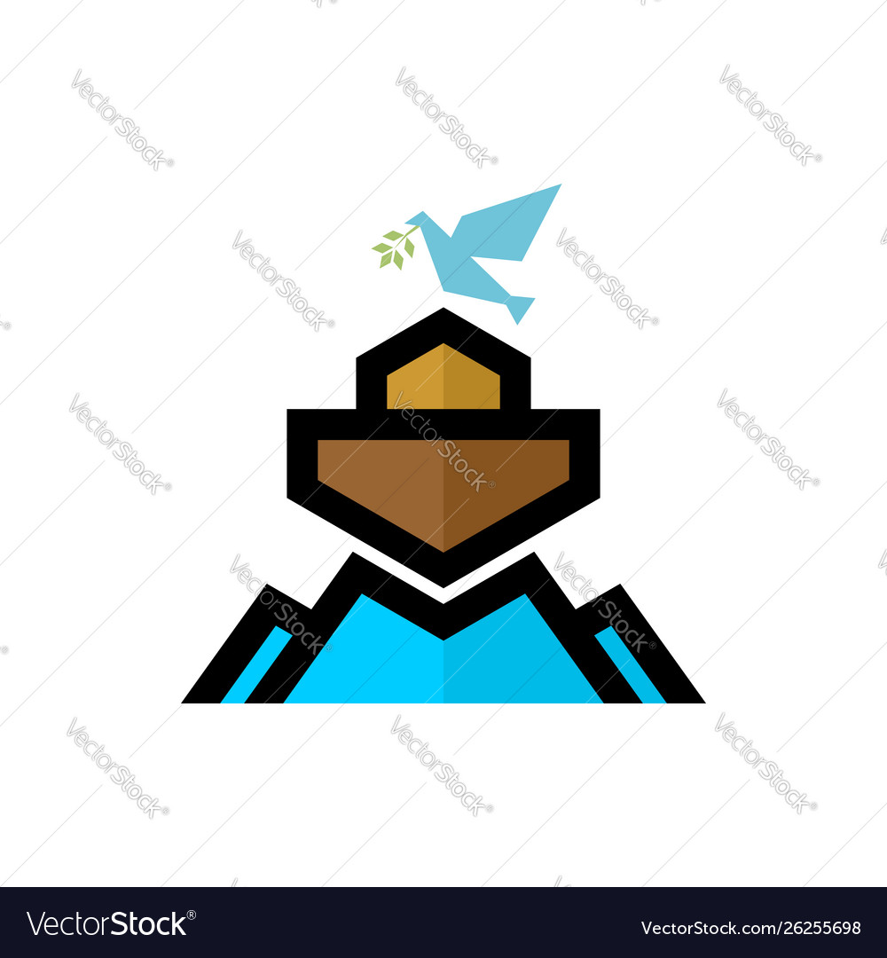 Logo noahs ark biblical.