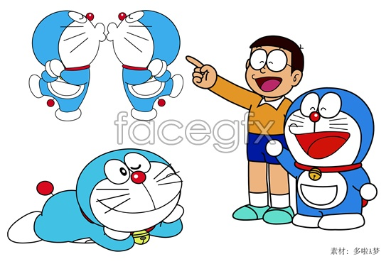 More than a dream and nobita vector.