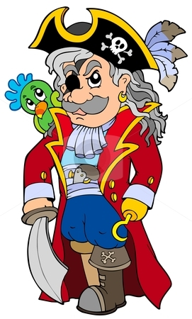 Cartoon noble corsair stock vector.
