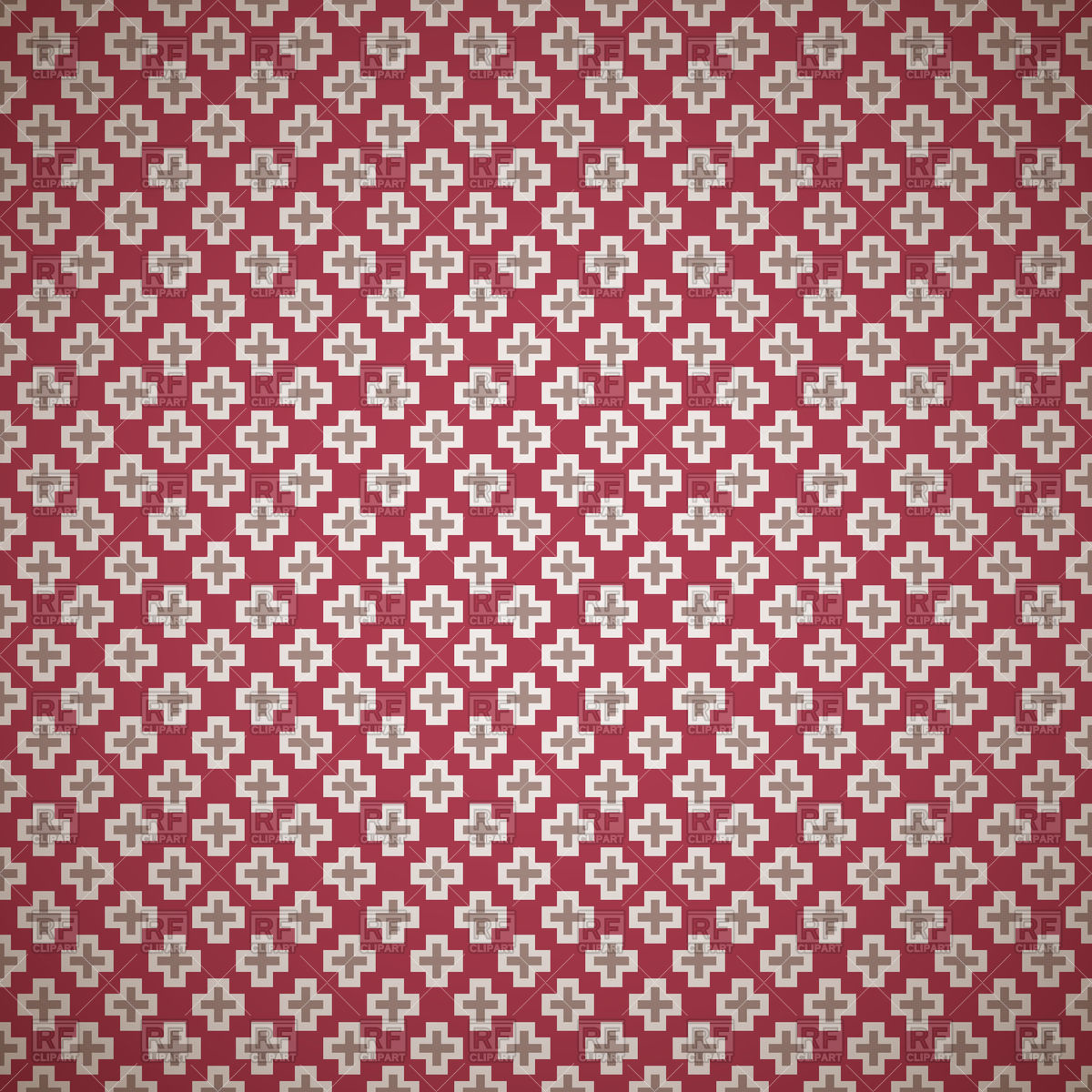 Dark red noble elegant seamless patterns of covered with crosses.