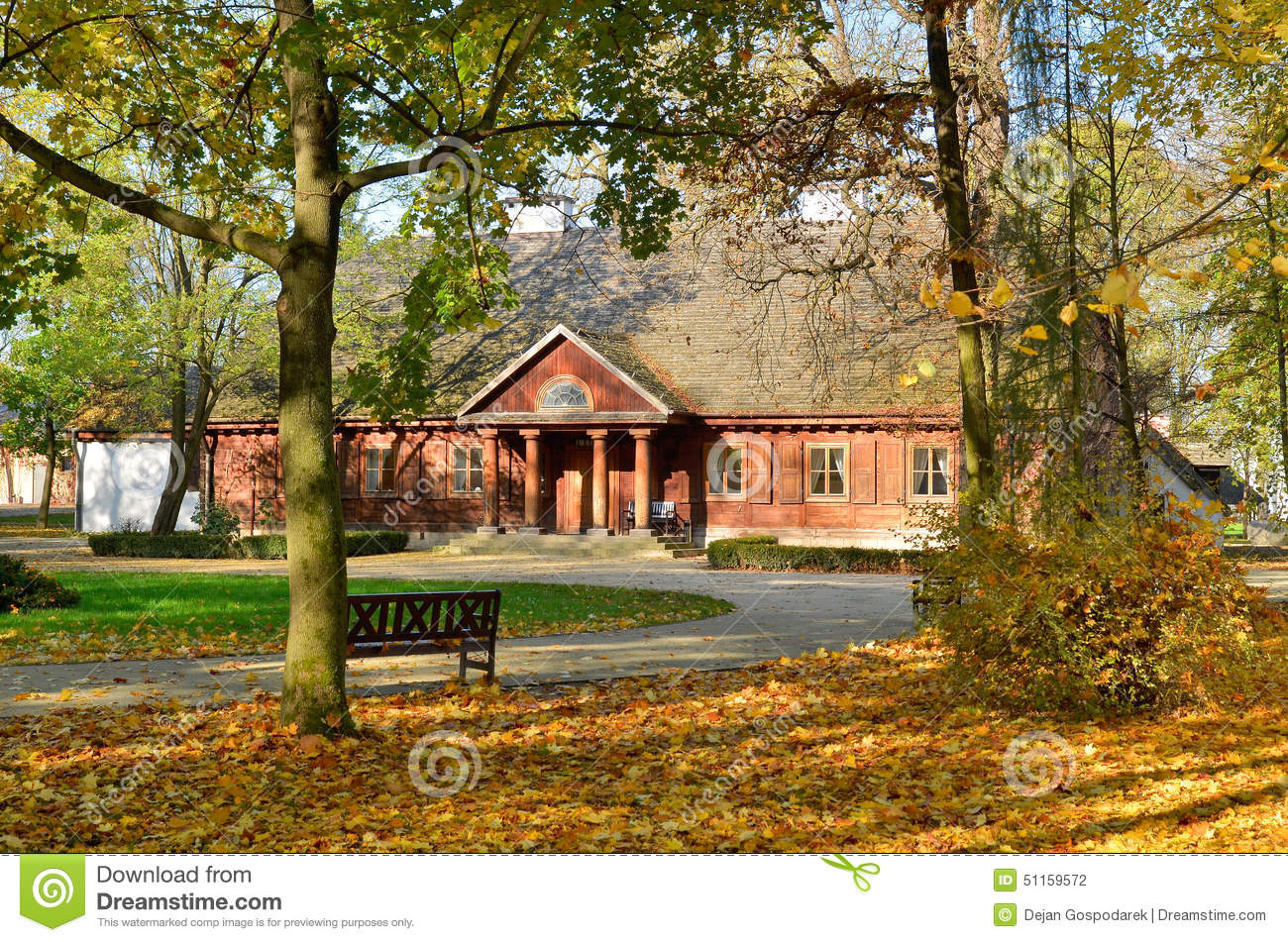 Manor House In Radziejowice (Poland) Stock Photo.