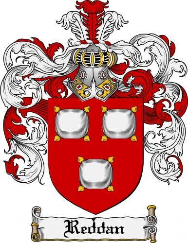 Reddan Coat of Arms Reddan Family.
