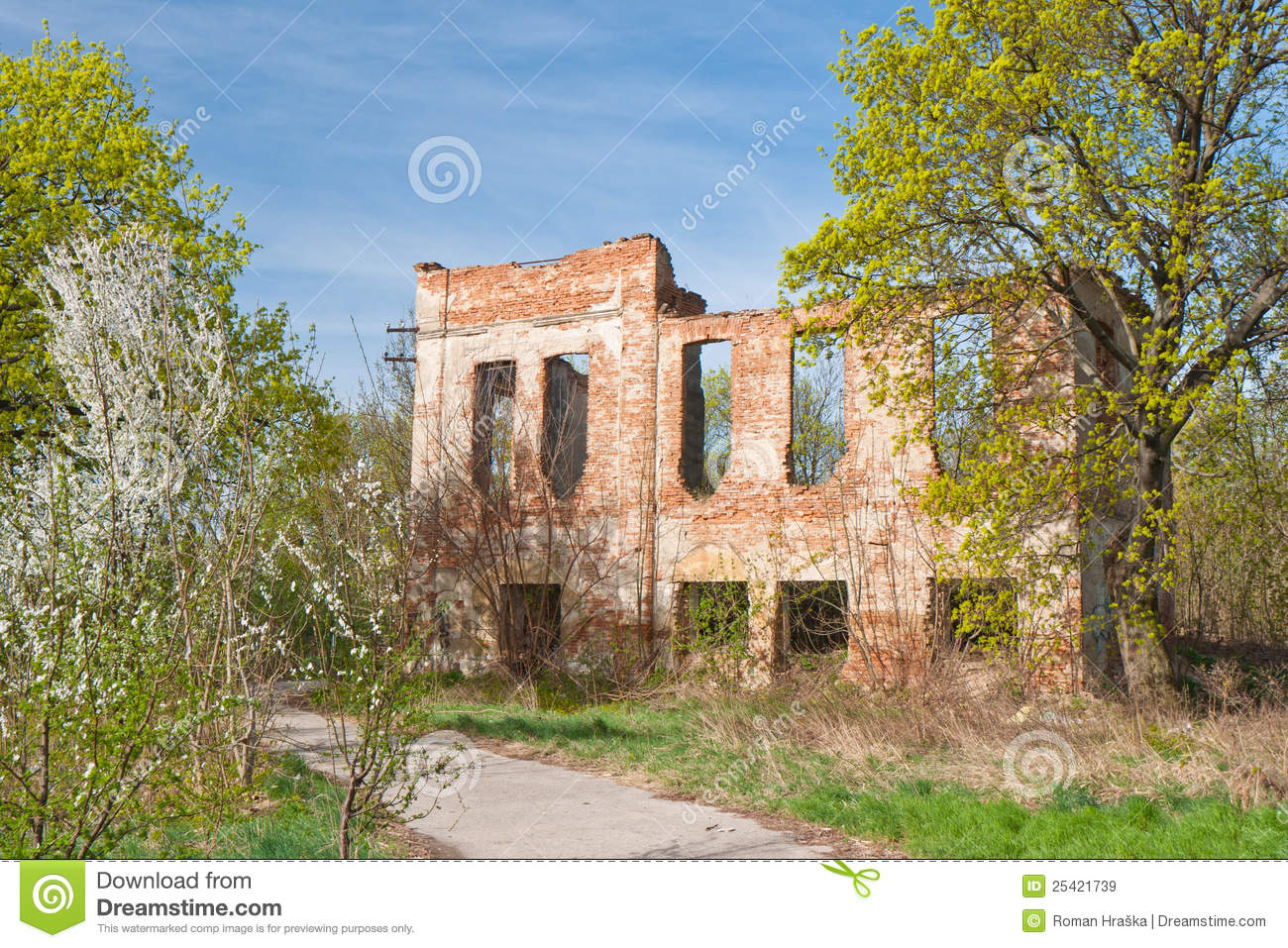 Noble House Ruin Royalty Free Stock Images.