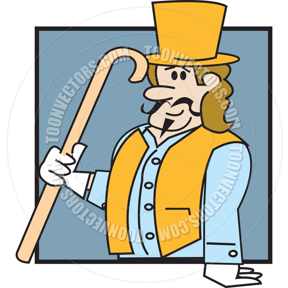 Cartoon Victorian Man Vector Illustration by Clip Art Guy.