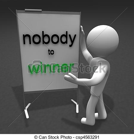 Clipart of nobody to winner.