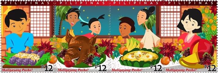 PHLPost issued four Noche Buena stamps to celebrate.