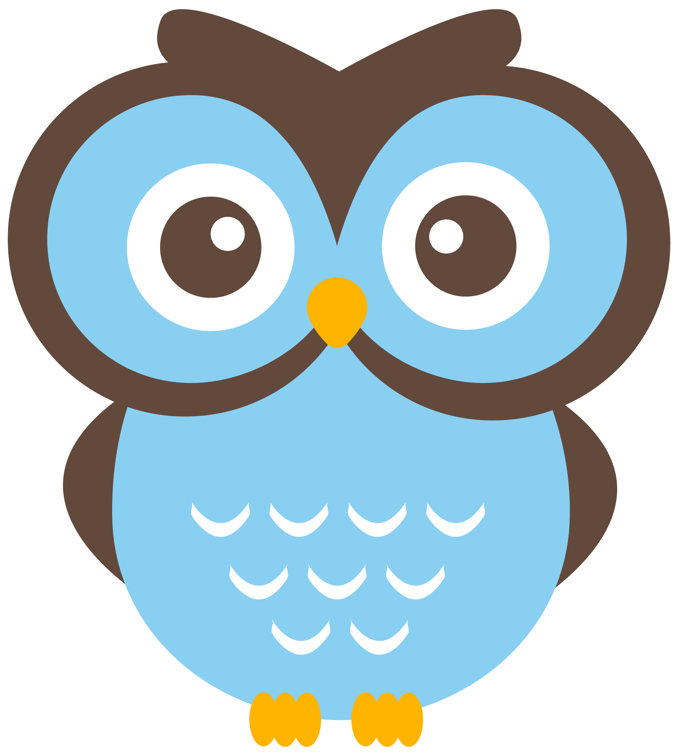 Nocturnal Bird Owl coloring pages 34 pictures cartoon clip arts.