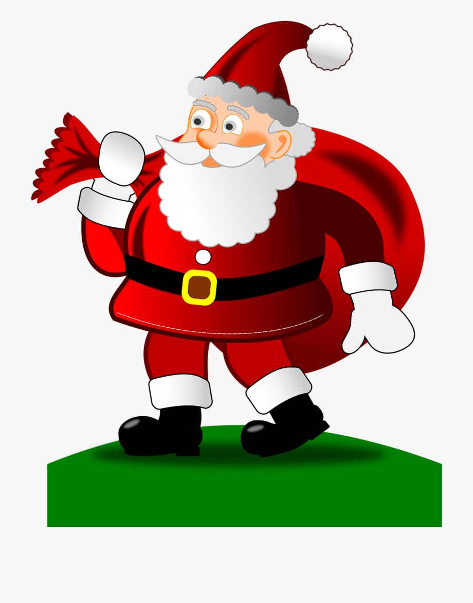 Noël Heureux Le Père Noël Cadeaux Joyeux Noël.