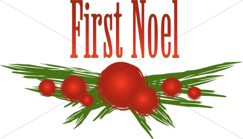 The First Noel Clipart.
