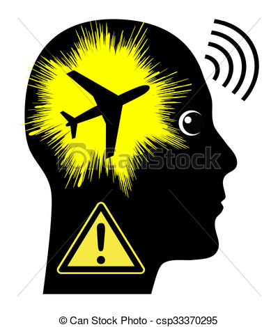 Stock Illustration of Noise Pollution by Aircrafts.