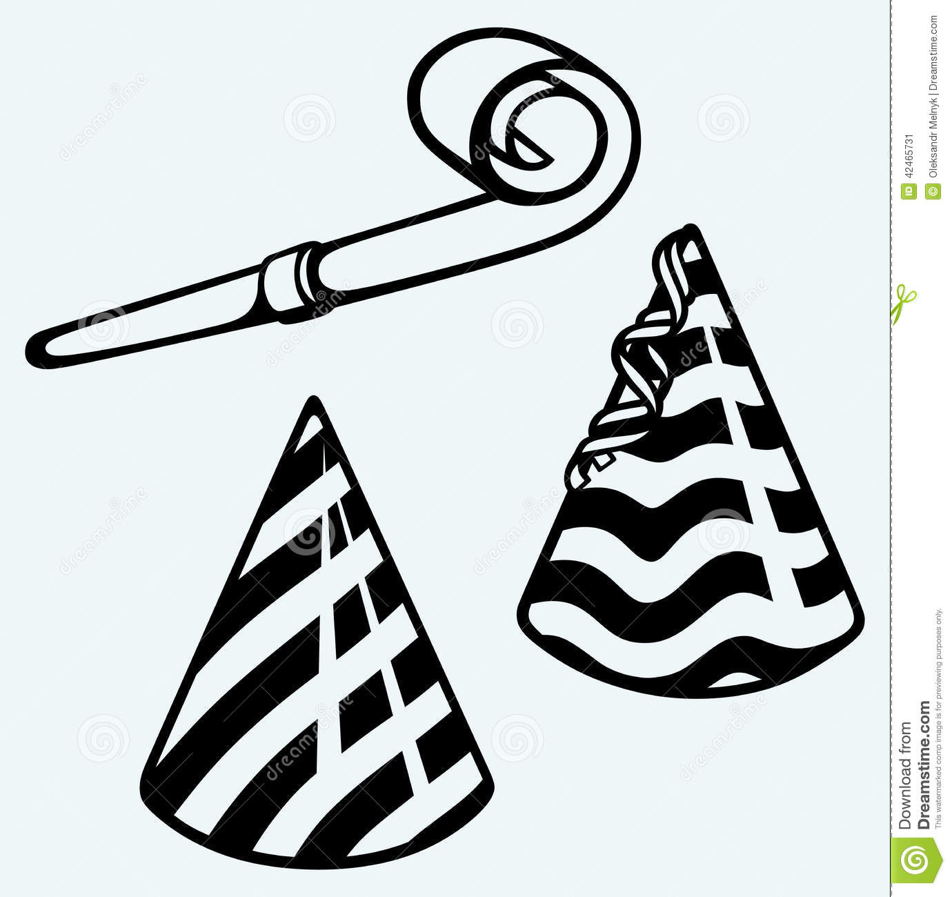 Noise Maker Black And White Clipart.