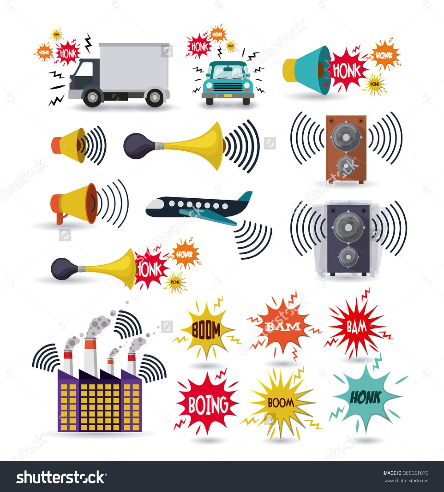 Noise Pollution Design Vector Illustration Eps10 Stock Vector.