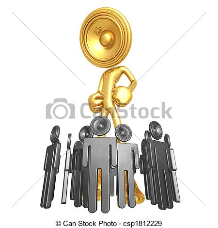 Stock Illustration of Above The Noise.