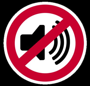 No Noise Clipart.