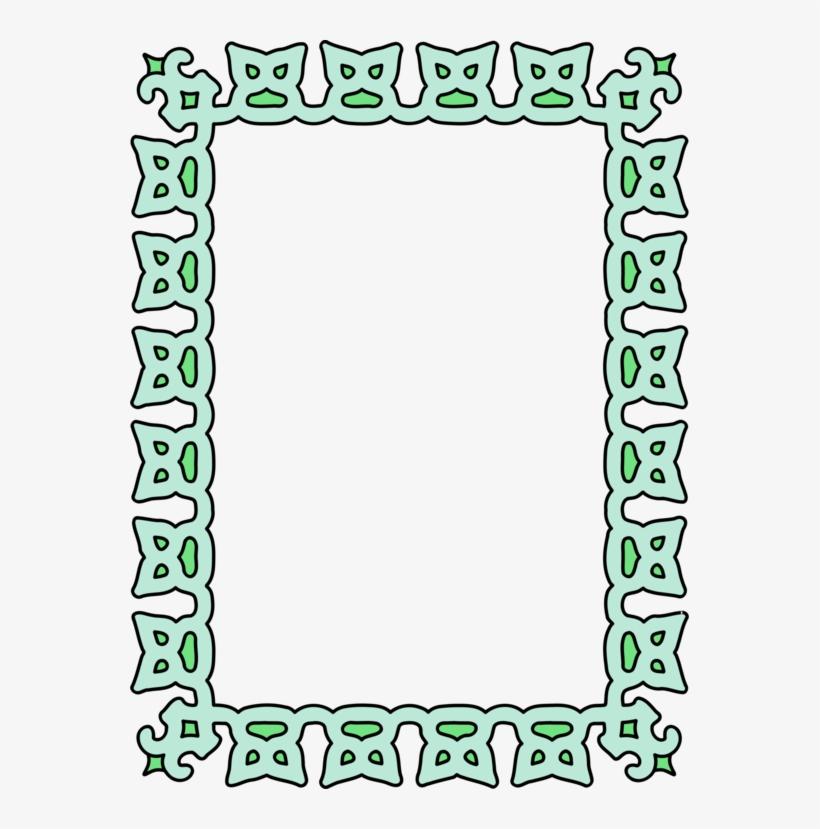 Picture Frames Decorative Arts Green Leaf Rectangle.
