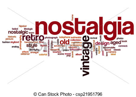 Stock Illustration of Nostalgia word cloud.