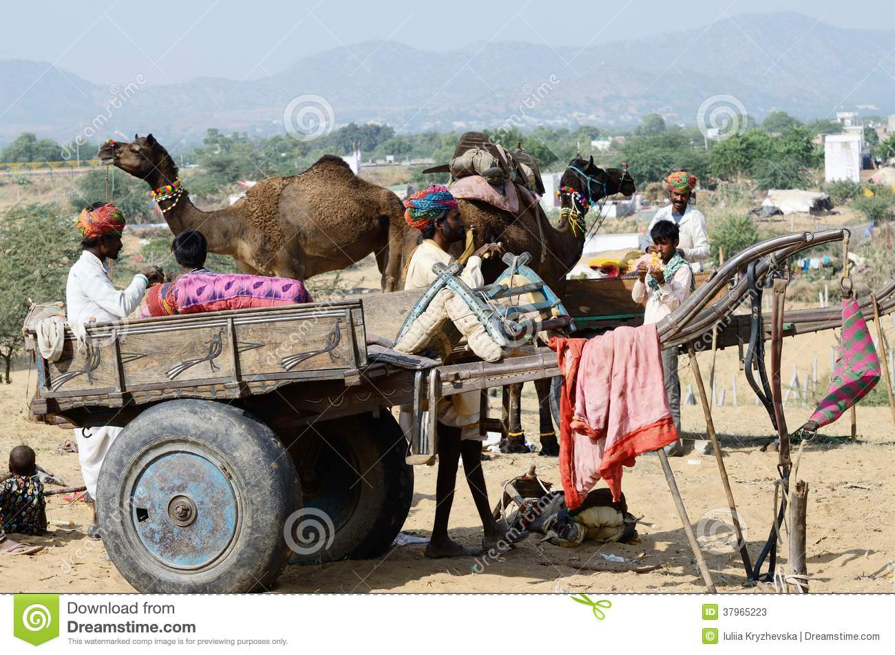 A Tribal Nomadic Girl From Rajasthan Editorial Stock Image.